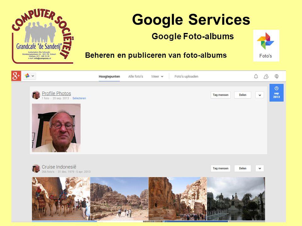 Google Services Beheren en publiceren van foto-albums Google Foto-albums