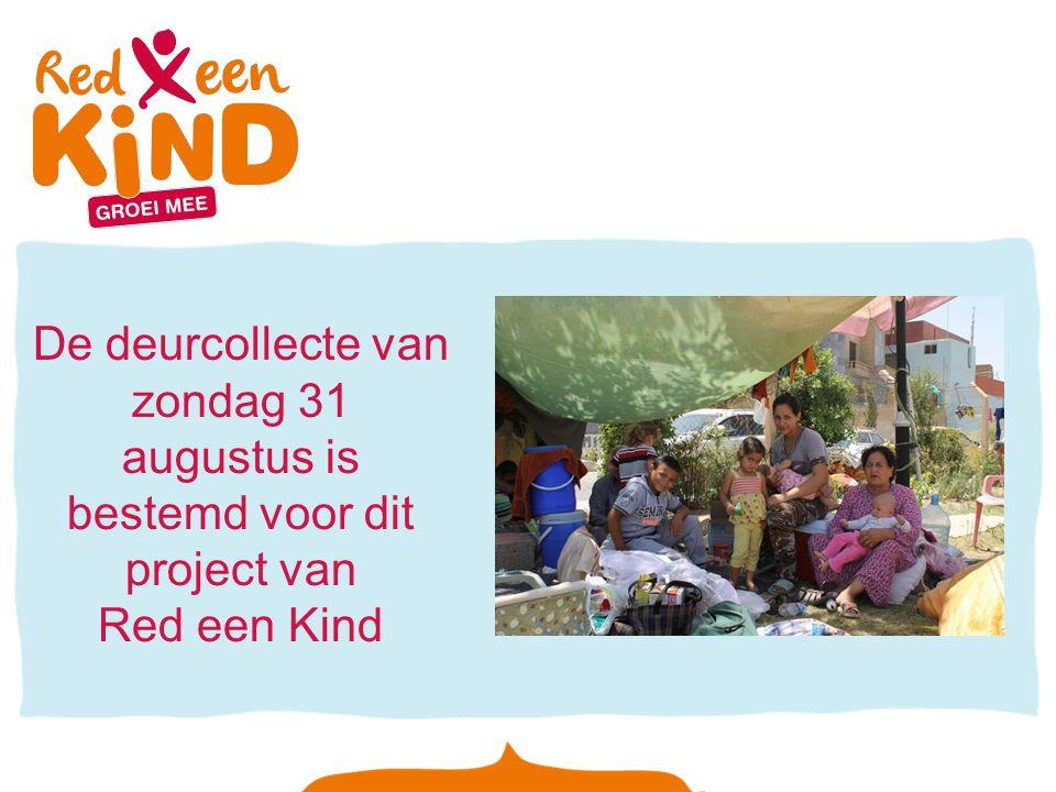 De deurcollecte van zondag 31 augustus is bestemd voor dit project van Red een Kind