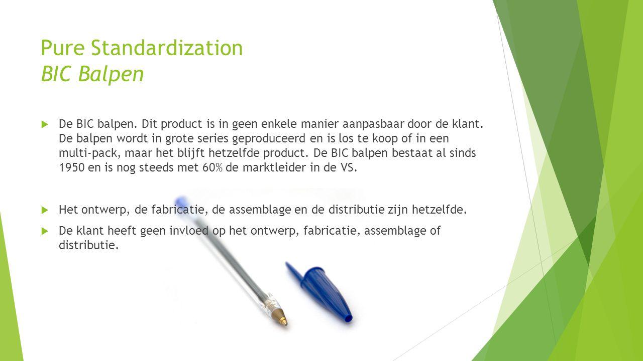 Pure Standardization BIC Balpen  De BIC balpen. Dit product is in geen enkele manier aanpasbaar door de klant. De balpen wordt in grote series geprod
