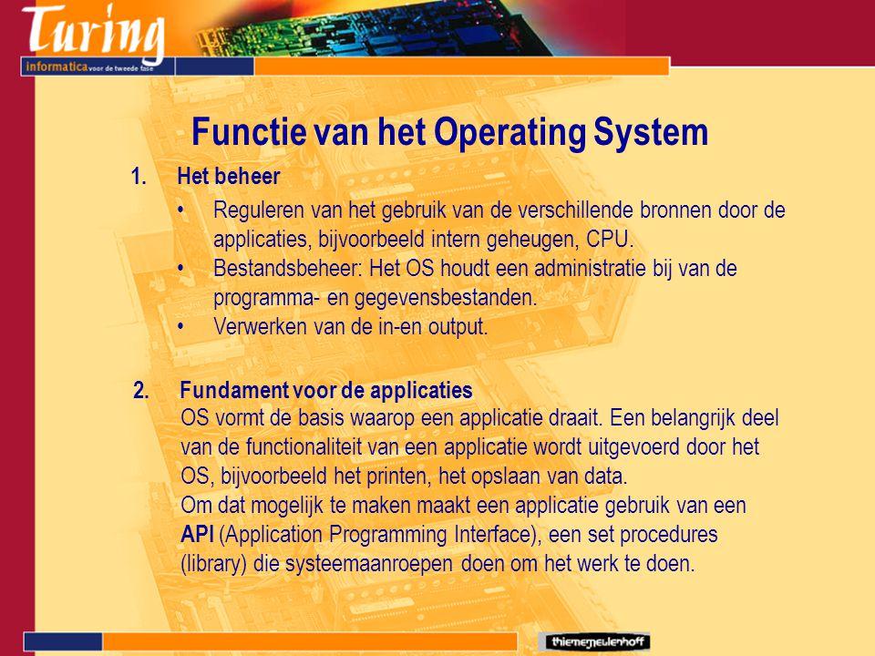 Extra functionaliteit 1.Multitasking: Meerdere programma's worden tegelijk gebruikt zonder elkaar te storen.