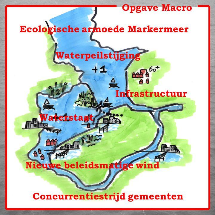 Opgave Macro Ecologische armoede Markermeer Waterpeilstijging Nieuwe beleidsmatige wind Infrastructuur Waterstaat Concurrentiestrijd gemeenten