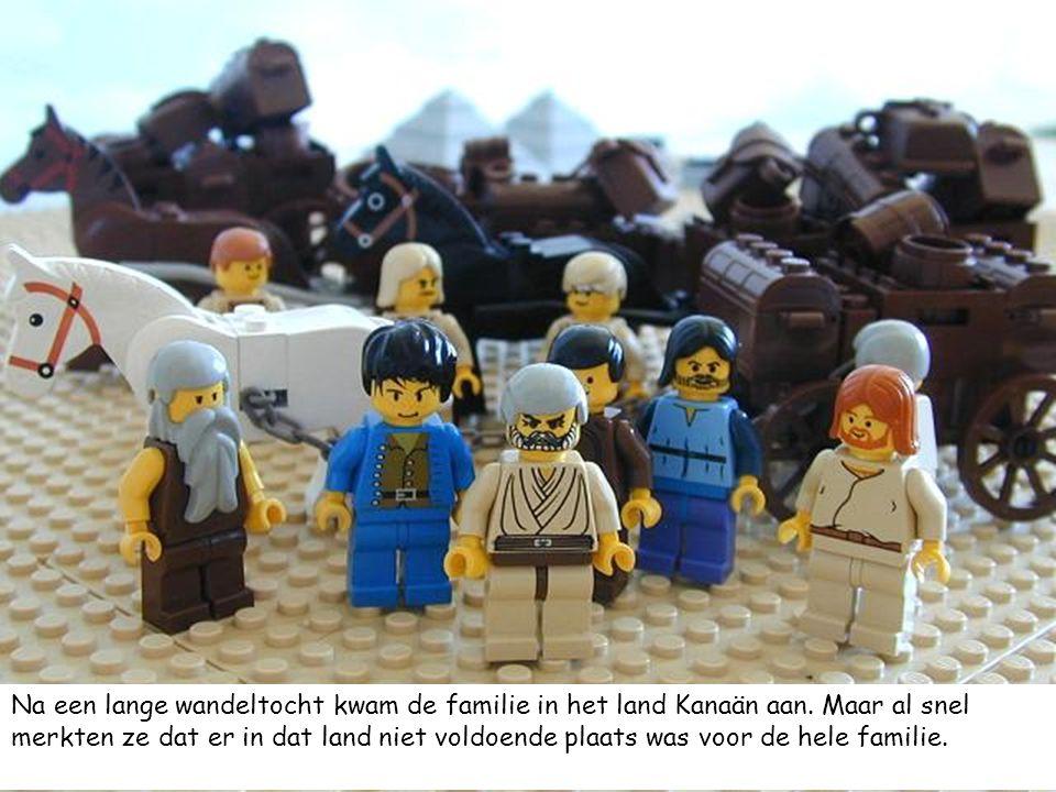 Na een lange wandeltocht kwam de familie in het land Kanaän aan. Maar al snel merkten ze dat er in dat land niet voldoende plaats was voor de hele fam