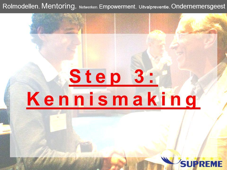 Step 4: Aan de slag Rolmodellen.Mentoring. Netwerken.