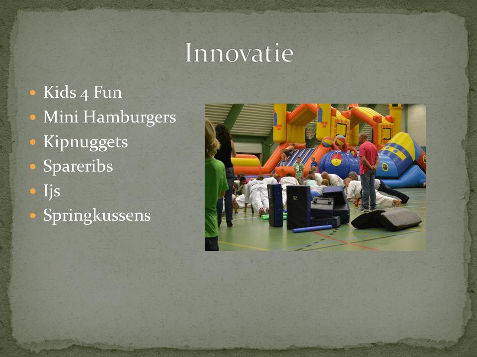 Kids 4 Fun Mini Hamburgers Kipnuggets Spareribs Ijs Springkussens