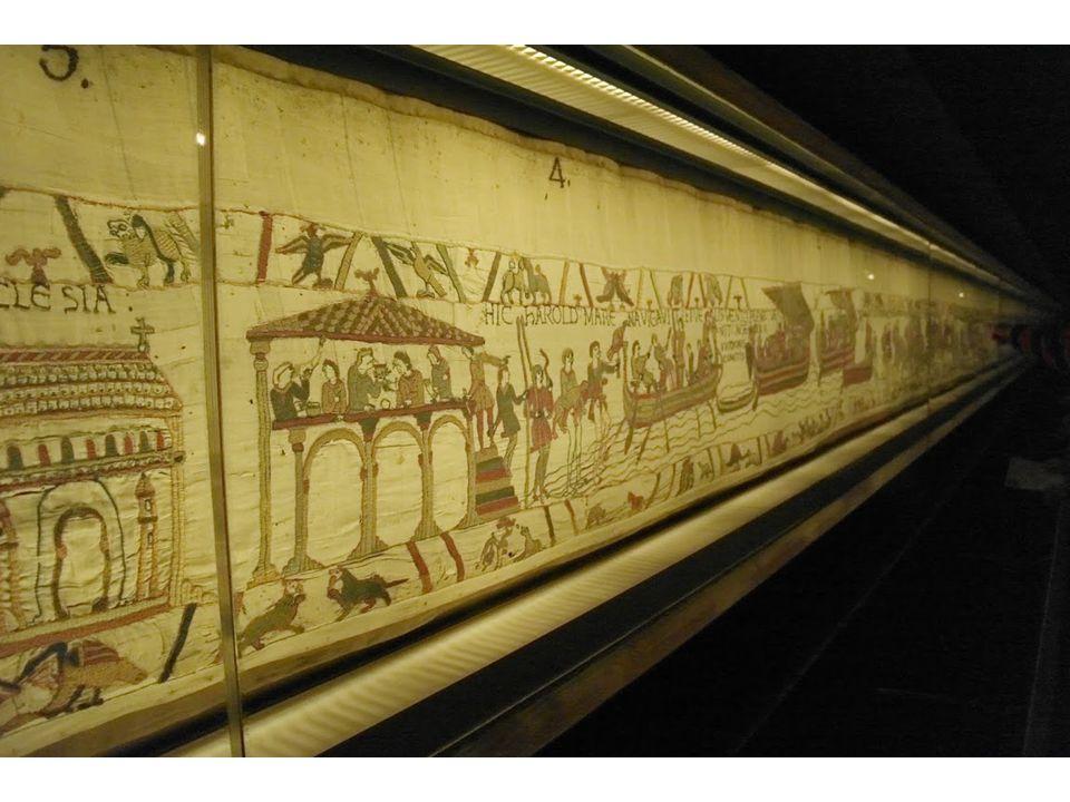  Tapijt van Bayeaux (70 m x 50 cm)  Vernoemd naar? De stad waar het gemaakt is (Bayeux).
