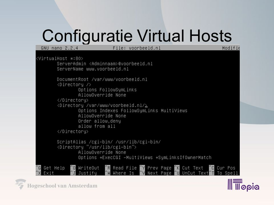 Configuratie Virtual Hosts