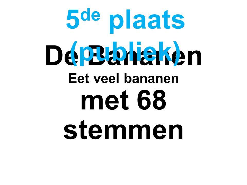 De Bananen Eet veel bananen met 68 stemmen 5 de plaats (publiek)