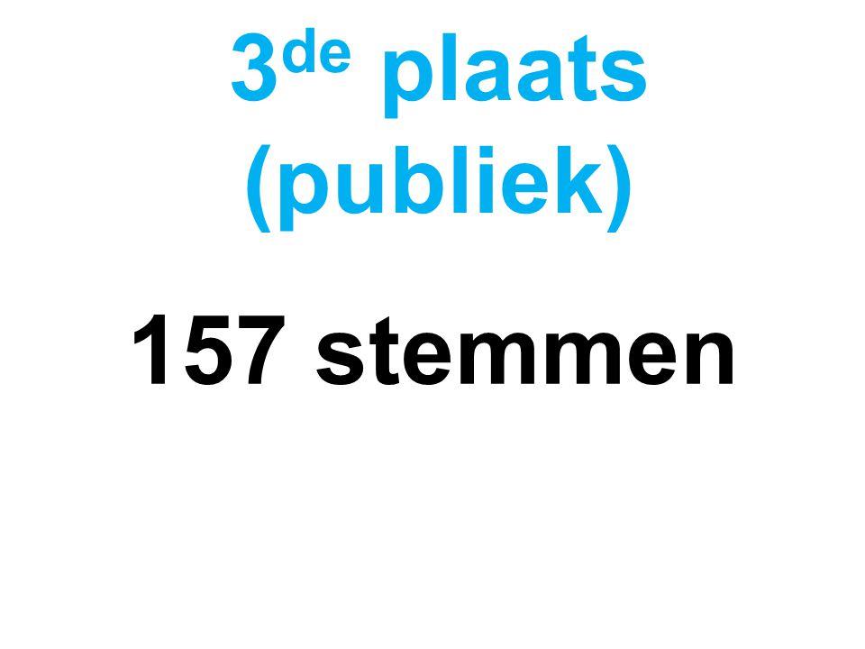157 stemmen 3 de plaats (publiek)