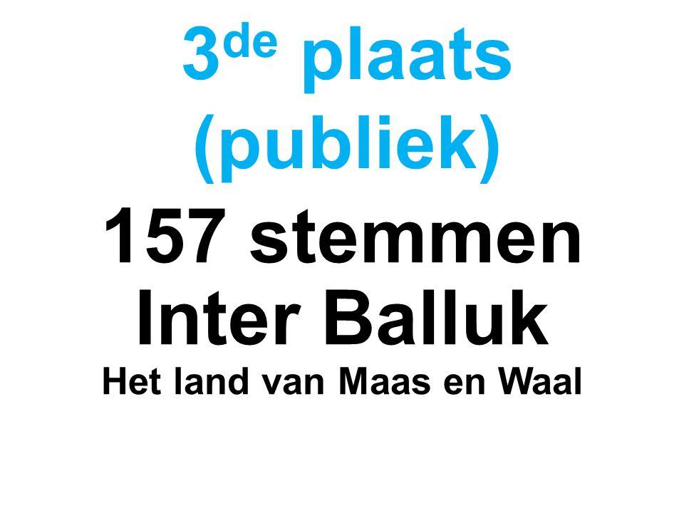 157 stemmen Inter Balluk Het land van Maas en Waal 3 de plaats (publiek)