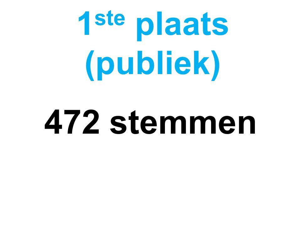 472 stemmen 1 ste plaats (publiek)