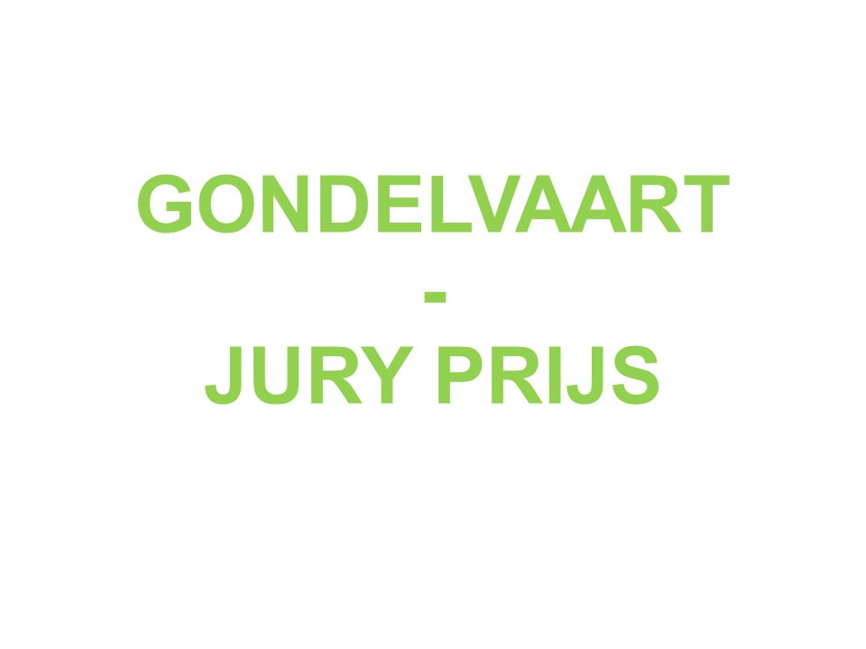GONDELVAART - JURY PRIJS