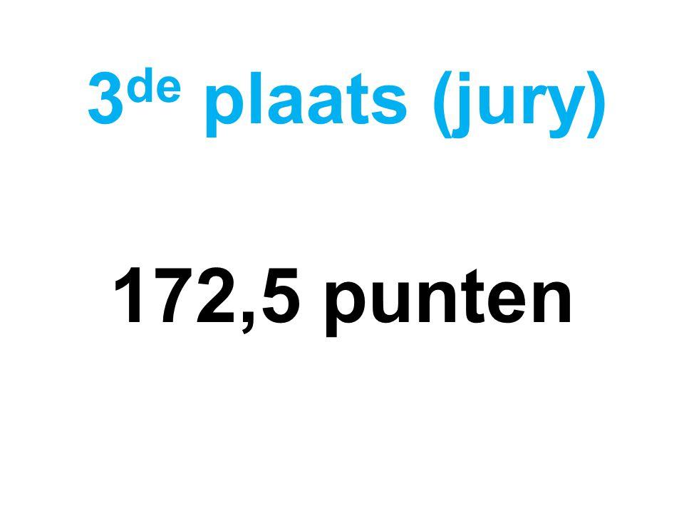172,5 punten 3 de plaats (jury)