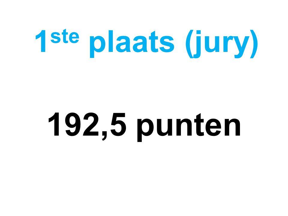 192,5 punten 1 ste plaats (jury)