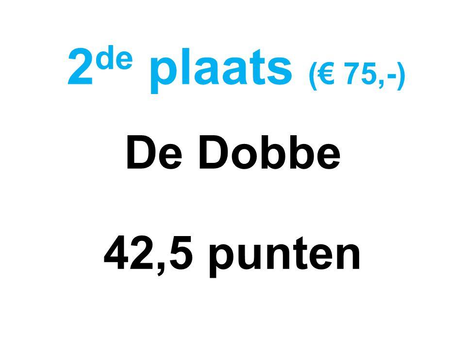 De Dobbe 42,5 punten 2 de plaats (€ 75,-)