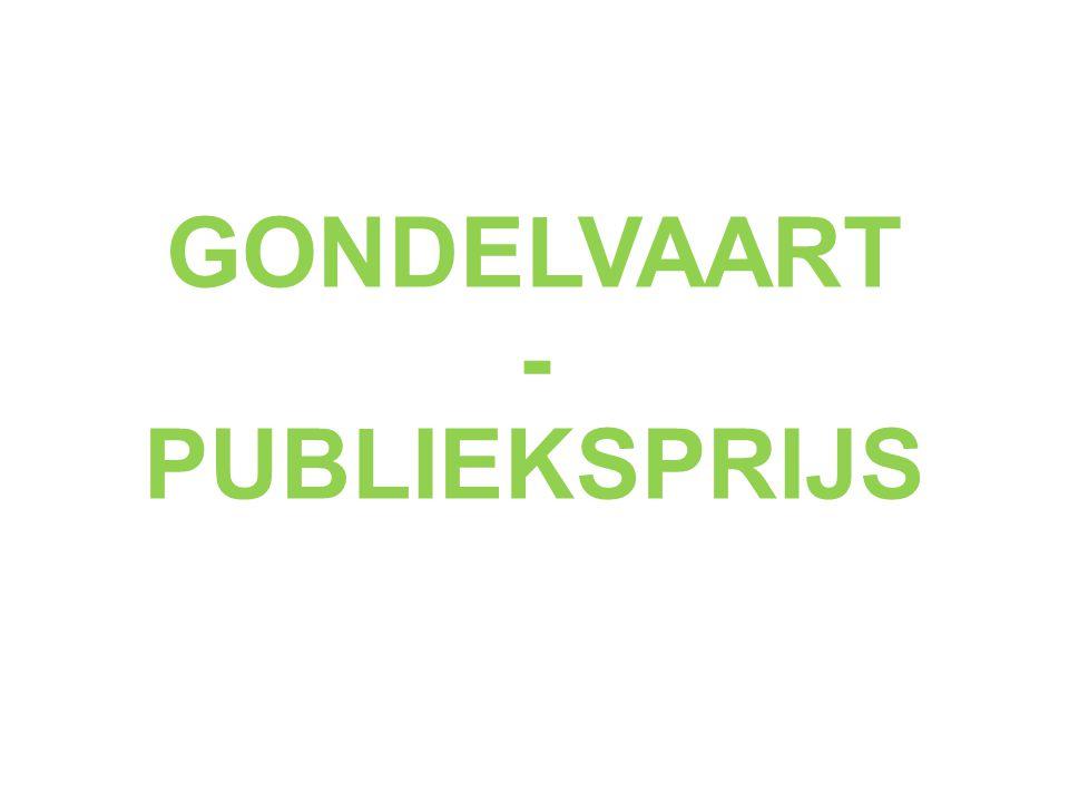 GONDELVAART - PUBLIEKSPRIJS