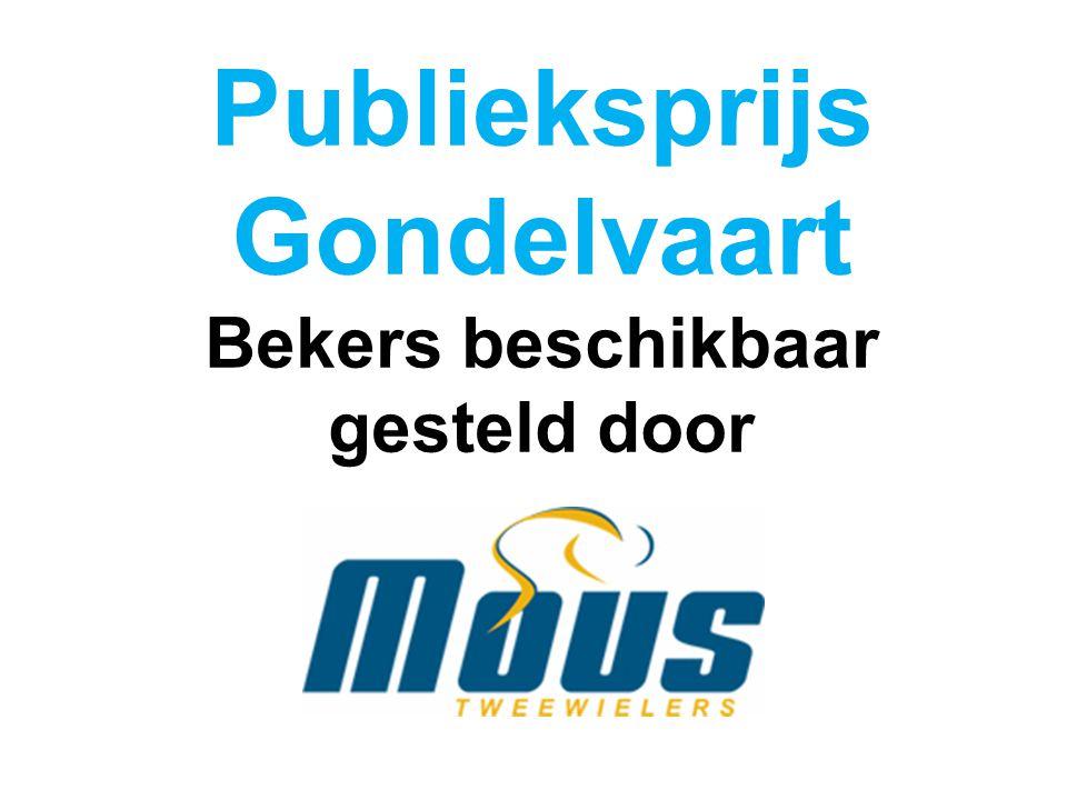 Publieksprijs Gondelvaart Bekers beschikbaar gesteld door