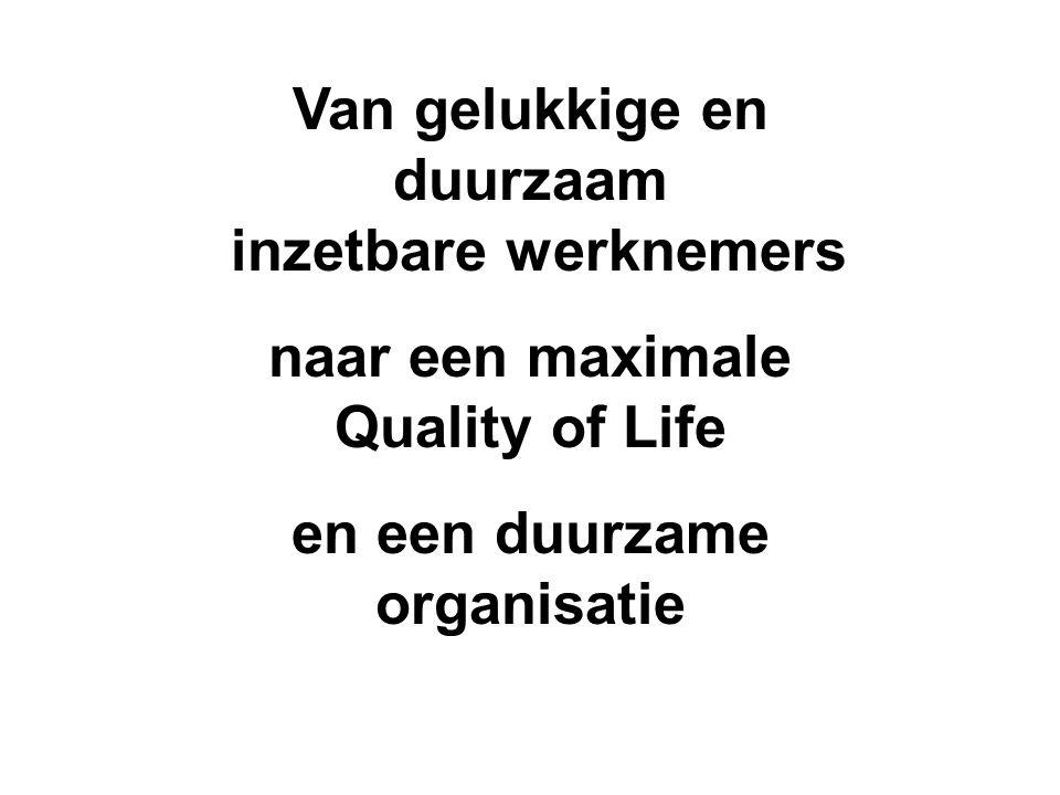 Van gelukkige en duurzaam inzetbare werknemers naar een maximale Quality of Life en een duurzame organisatie