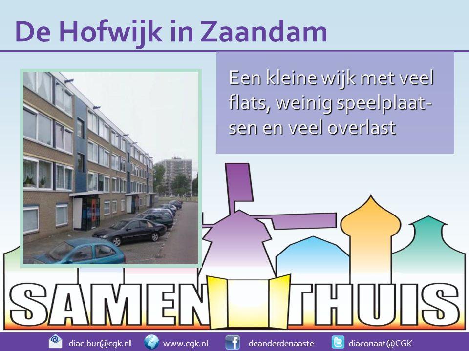 Een kleine wijk met veel flats, weinig speelplaat- sen en veel overlast De Hofwijk in Zaandam