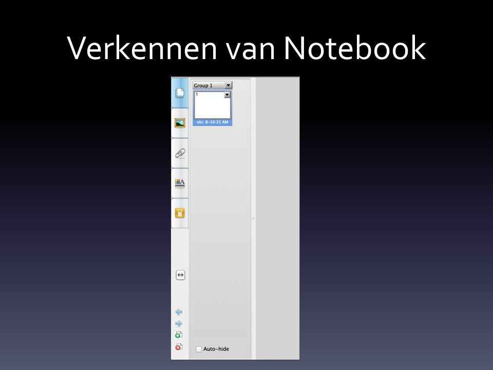 Verkennen van Notebook