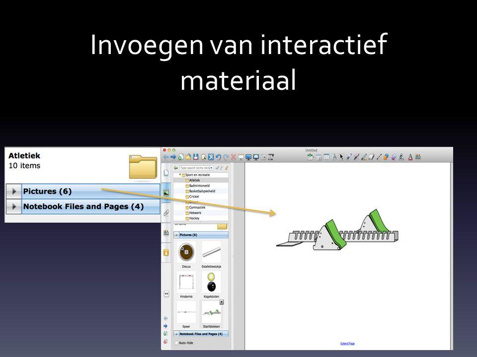 Invoegen van interactief materiaal