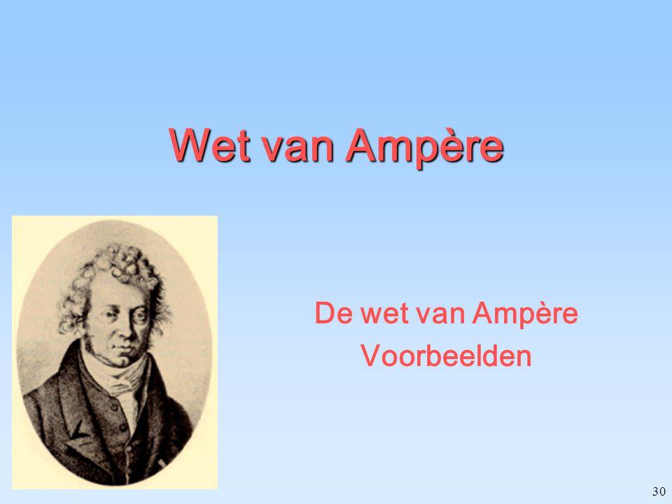 30 Wet van Ampère De wet van Ampère Voorbeelden