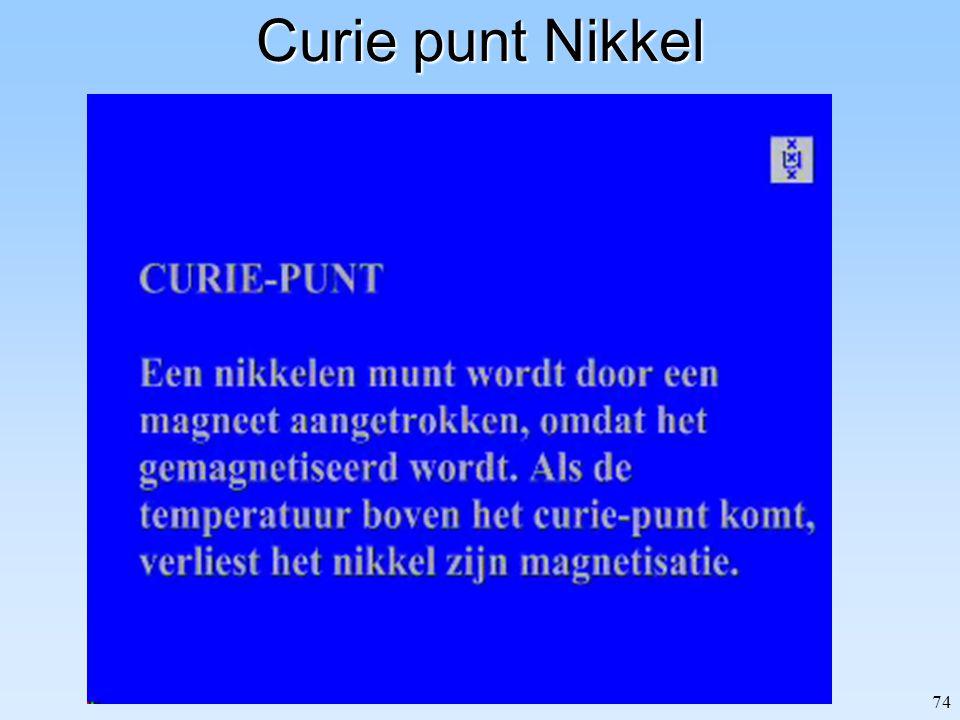 74 Curie punt Nikkel