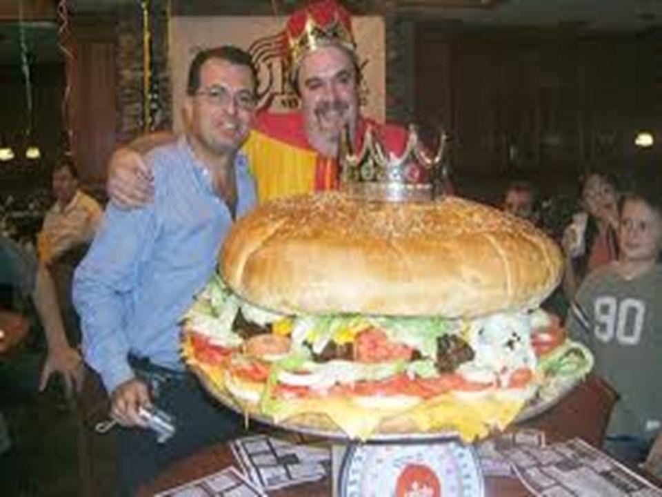 Een hamburger van 30 cm diameter