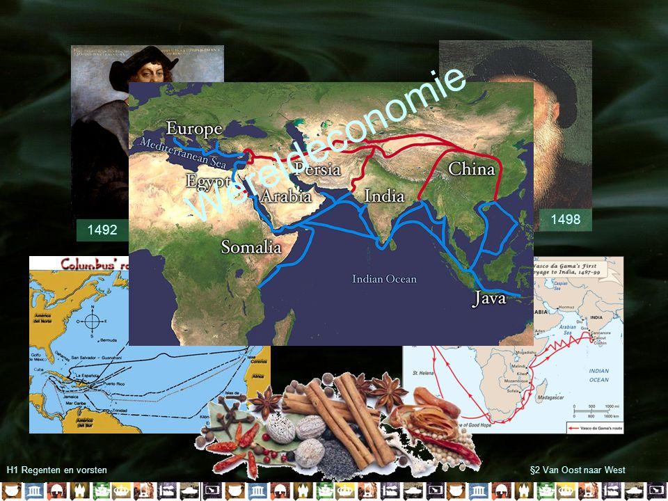 H1 Regenten en vorsten§2 Van Oost naar West 1492 1498 Wereldeconomie