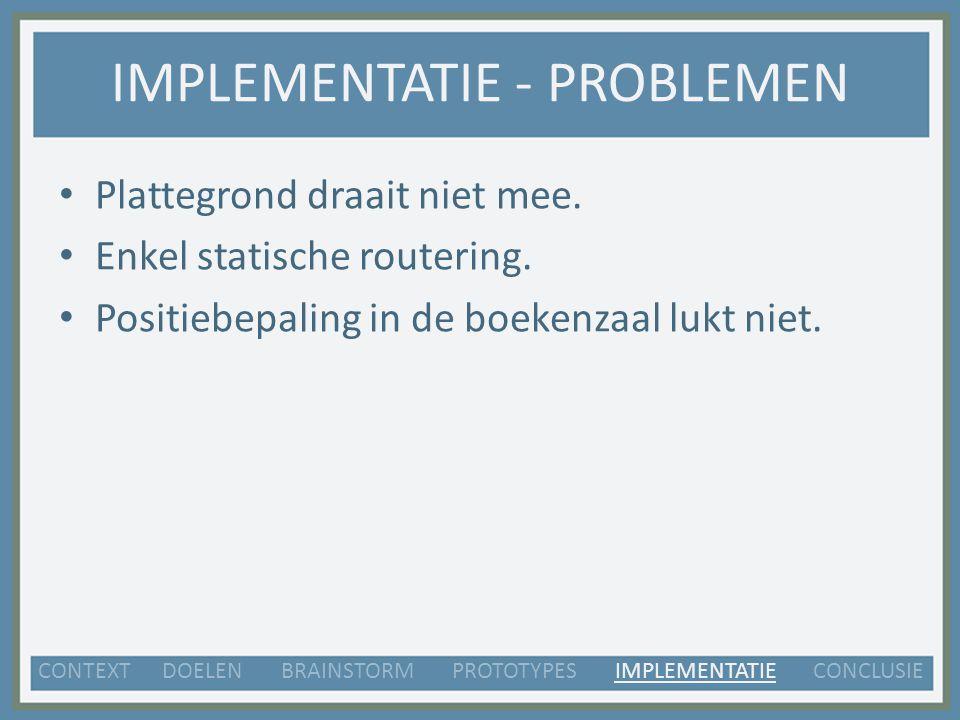 IMPLEMENTATIE - PROBLEMEN Plattegrond draait niet mee.