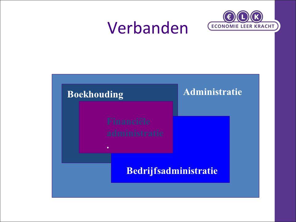 Verbanden Administratie Boekhouding Financiële administratie. Bedrijfsadministratie