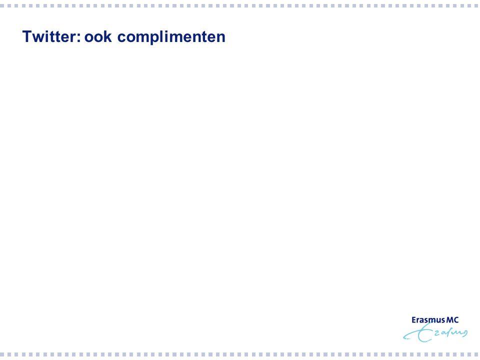 Twitter: ook complimenten