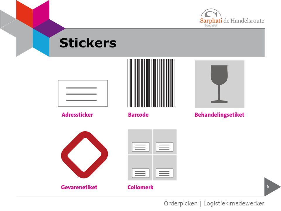 Stickers 6 Orderpicken | Logistiek medewerker