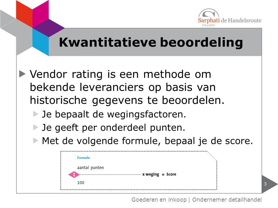 Vendor rating is een methode om bekende leveranciers op basis van historische gegevens te beoordelen.