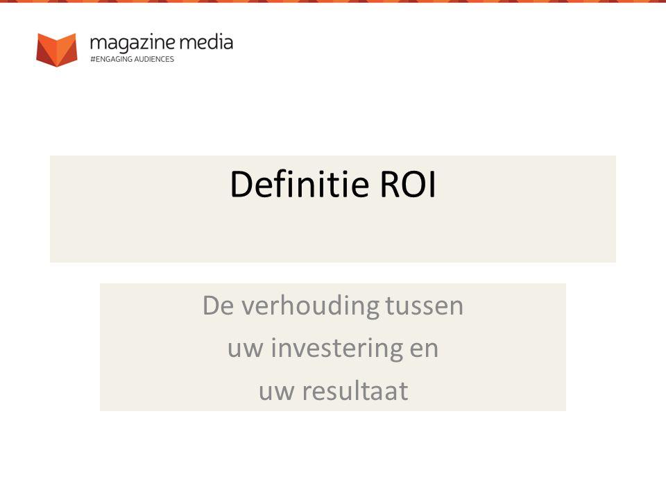 De conclusie: Magazinereclame = hoge ROI!