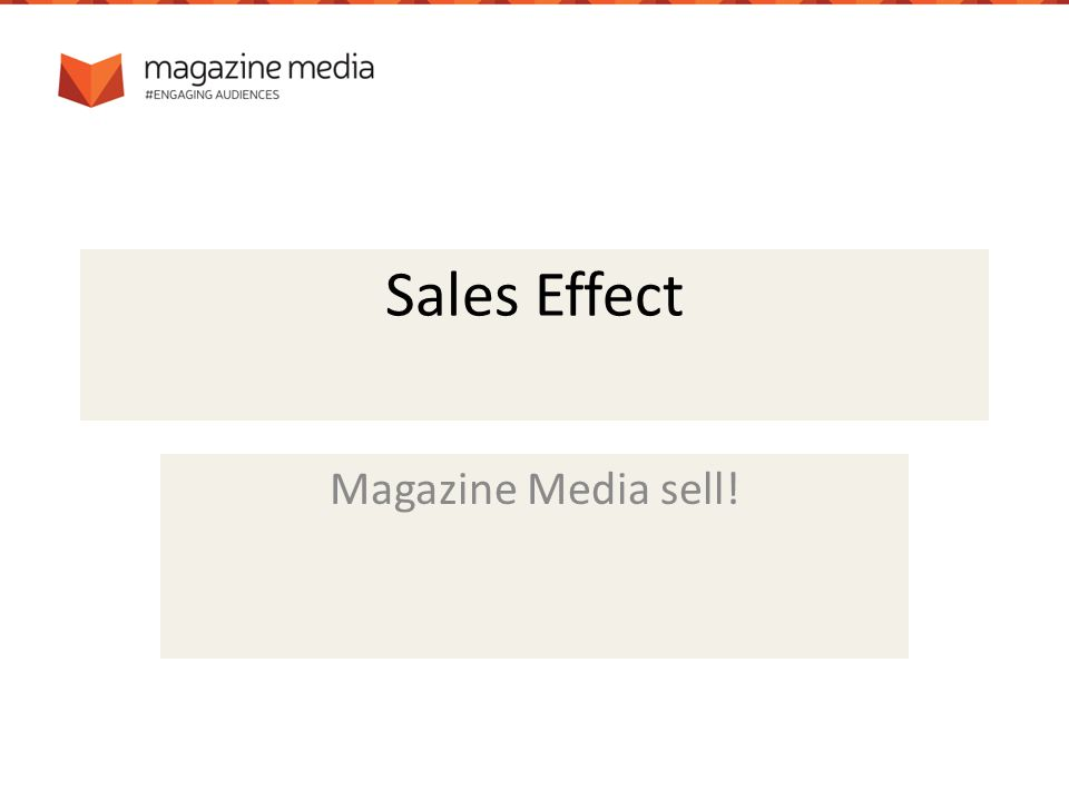 Sales Effect Magazine Media sell!