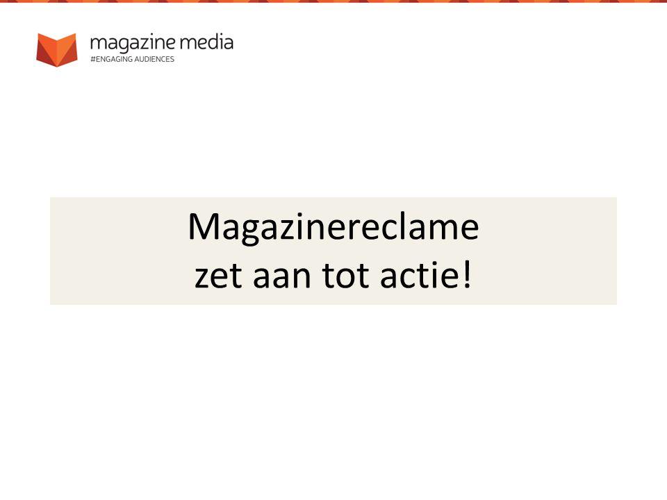 Magazinereclame zet aan tot actie!