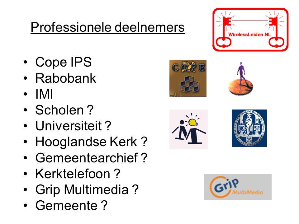 Professionele deelnemers Cope IPS Rabobank IMI Scholen .