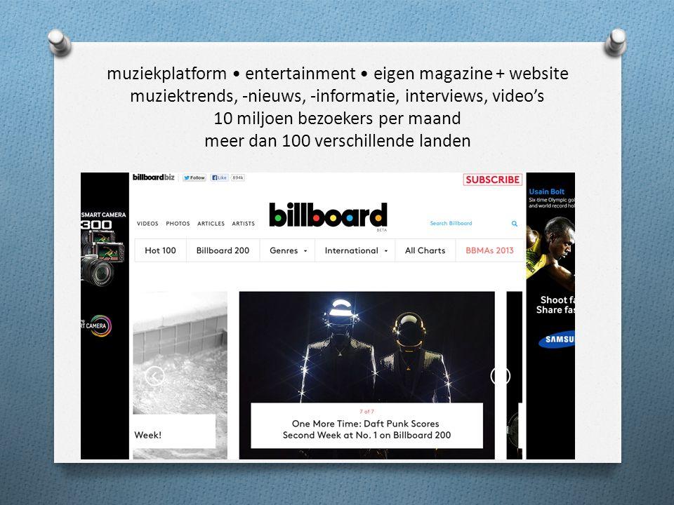 Opdracht Ga naar de site www.billboard.com Maak een beknopte swot en geef drie adviezen