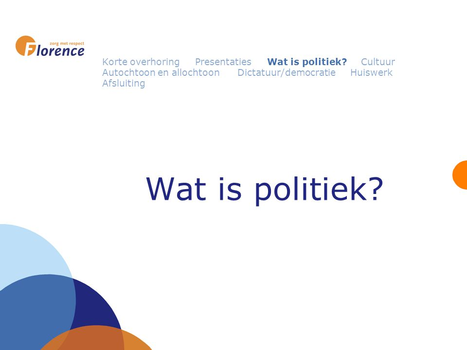 Wat is politiek