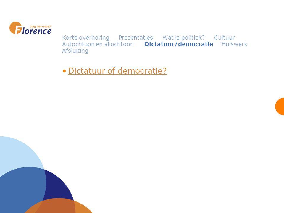 Korte overhoring Presentaties Wat is politiek.