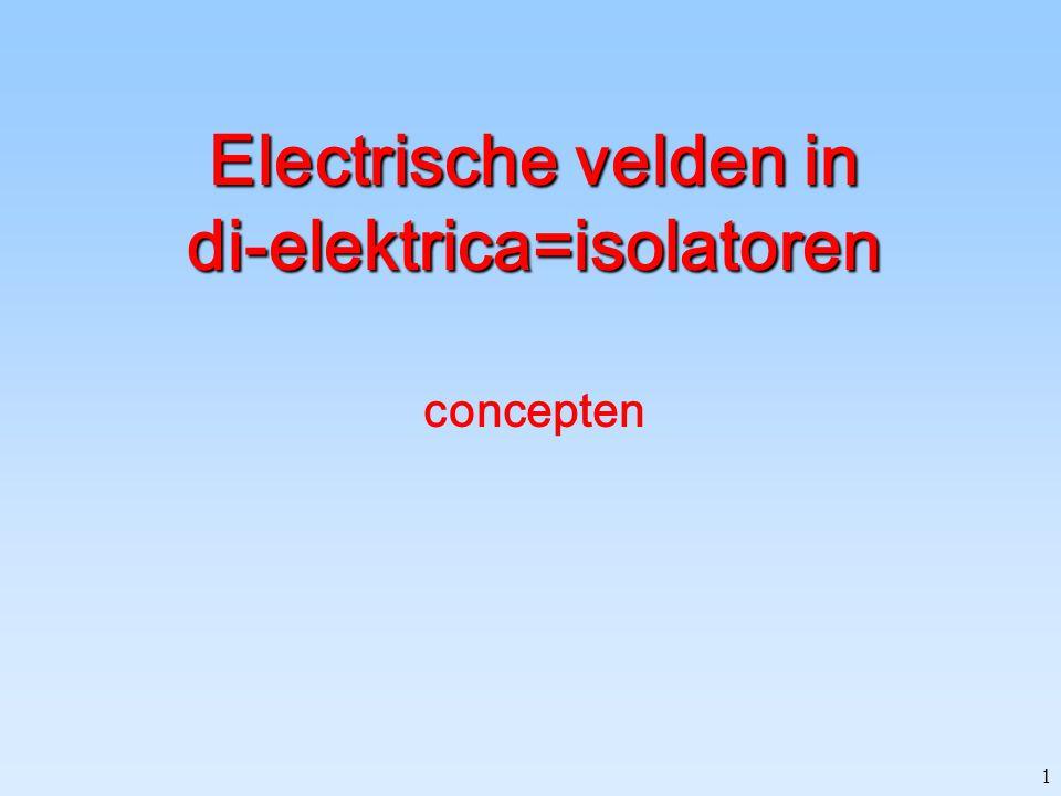 1 Electrische velden in di-elektrica=isolatoren concepten