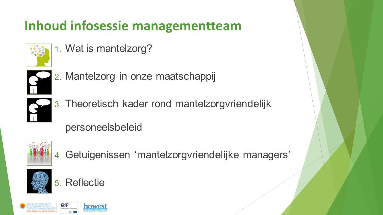 Inhoud infosessie managementteam 1. Wat is mantelzorg.