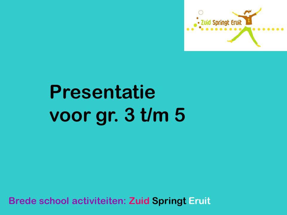 Buurtbelang Grauwe Polder In de wijk Grauwe Polder valt veel te beleven: Kinderdisco (groep 4-8) Koersbal Brede school activiteiten: Zuid Springt Eruit