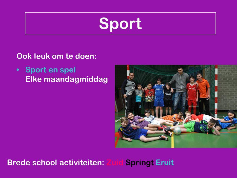 Brede school activiteiten: Zuid Springt Eruit Sport Ook leuk om te doen: Sport en spel Elke maandagmiddag
