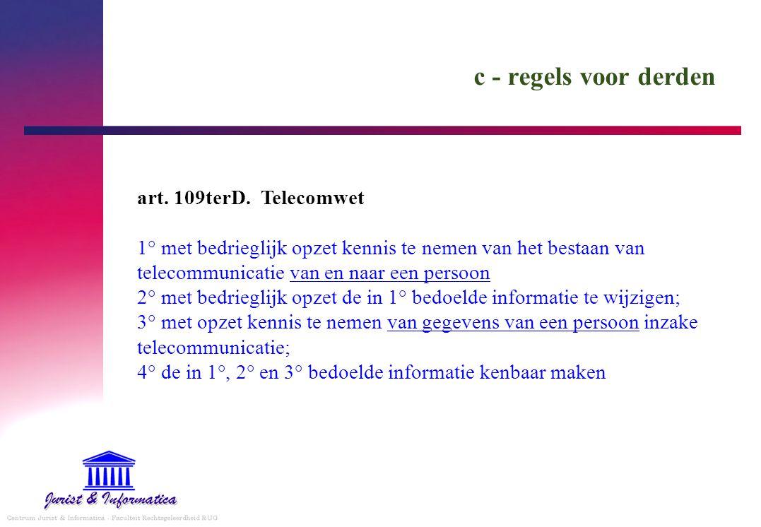 c - regels voor derden art.109terD.