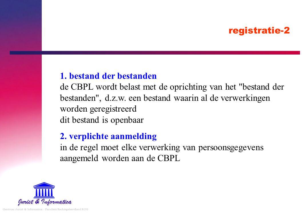 registratie-2 1. bestand der bestanden de CBPL wordt belast met de oprichting van het