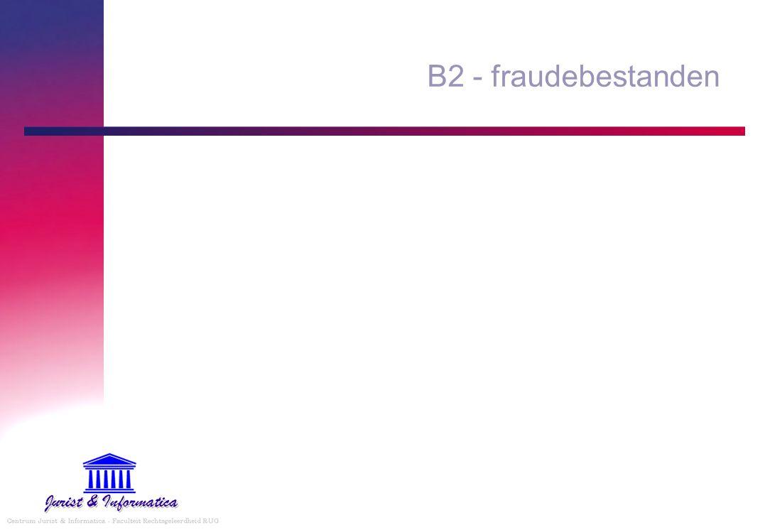 B2 - fraudebestanden