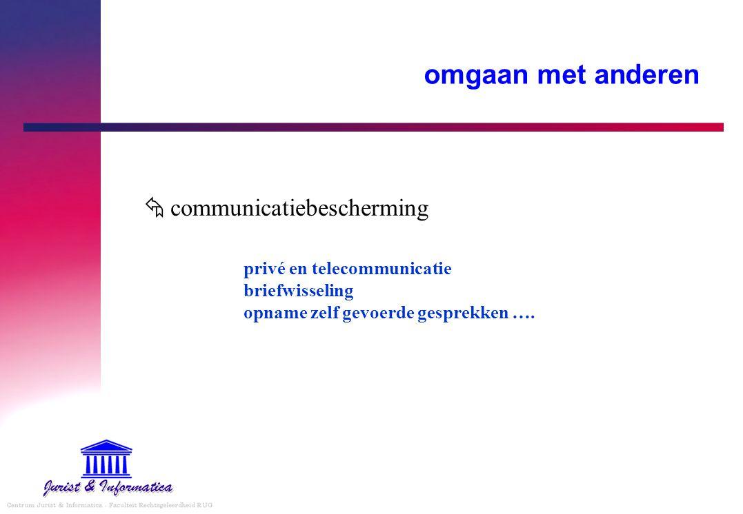 omgaan met anderen  communicatiebescherming privé en telecommunicatie briefwisseling opname zelf gevoerde gesprekken ….