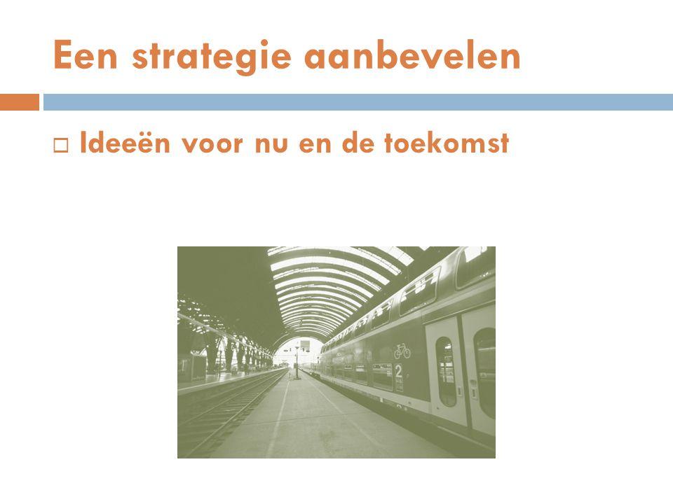 Een strategie aanbevelen  Ideeën voor nu en de toekomst