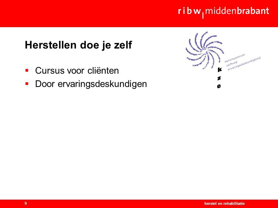 herstel en rehabilitatie10 Schatten van Brabants herstel